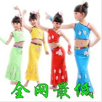 National child clothes dance costume peacock dance clothes female child skirt performance wear