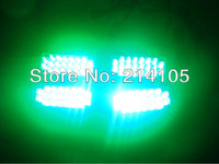 Green 4 x 22 LED Flash Emergency Strobe Car Grill Light
