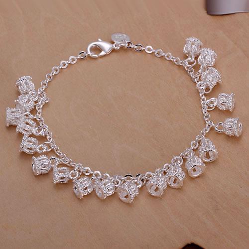 H055 Free Shipping Wholesale 925 silver bracelet, 925 silver fashion jewelry Crown Bracelet(China (Mainland))