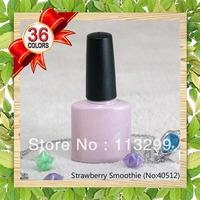 Free Shipping +36 Beautiful Colors!!! 2013 Spring!! CNF Soak Off UV Gel Nail Polish(36pcs Colors+2 Base Gel  + 2 Top Coat)