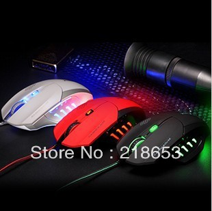 Lighting l9 wired laser mouse usb laptop game mouse personalized free shipping(China (Mainland))