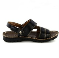 Leather the polyurethane end of summer paragraph sandals sandals men's casual sandals and slippers