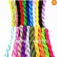 22pcs 1.5mm Premium Nylon Cord Macrame Rattail Braided Shamballa Beading String