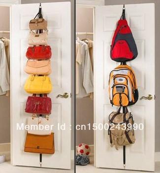 Adjustable Bag hooks for doors creative hooks belt Hot Strap Hat Bag/Clothes Organizer Hanging Rack Over Door---Free shipping