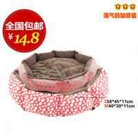 free shipping Pet Cat and Dog bed pet nest MICKEY dot kennel berber fleece pet mat cat for litter teddy color random