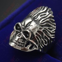 Male personality skull titanium ring ring fashion accessories