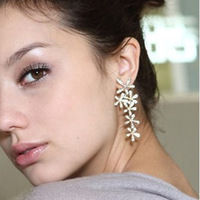 Min Order 15$ Free Shipping Vintage Flower Earrings 2013 For Gift High Quality Wholesale Hot HG0863