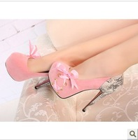 Spring fashion sexy ultra high heels platform shoes lacing
