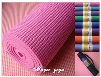 free shipping Slip-resistant thick 6mm sports mat 8mm yoga mat triangle set - backpack