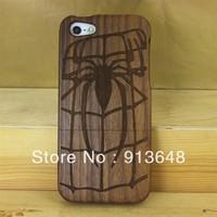 Wholesale~!High-quality new design walnut wood case for iphone5,wood case for iphone5