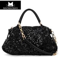 Cat bag fashion paillette women's handbag formal chain bag messenger bag handbag m06-116