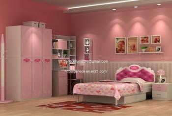 Children Bedroom Sets On Pink Bedroom Set Princess Bed With Wardrobe