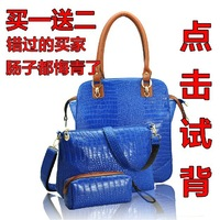 Детали и Аксессуары для сумок glossy patent crocodile leather women handbags Fashion shoulder bag with Metal Lock bride bag