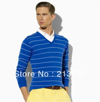 2013 New Arrival ! Men brand polo sweaters fashion polo sweater Knitwear stripe sweater embroidery small logo shown 3 color