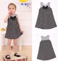 Girl's Summer Bow Dot Dress /Kids Sundress  Wholesale Free Shipping