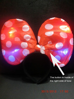 Free shipping LED freshing Minnie headband hair accessory for party and festival 20pcs/lot