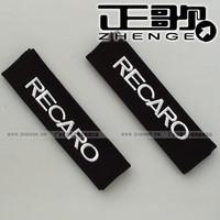 free shipping 10pairs shoulder Auto supplies Black recaro car logo safety belt cover 1pair=2pcs Seat belt shoulder