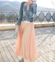 free shipping Hello . girl givlie elastic hasp elegant long bust skirt