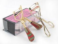 Free Shipping Senior wood handle& diamond BRAND Eyelash Curler Curl Clip Cosmetic Makeup Proffessional cosmetics eyelash curler