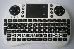 Free shipping Portable Mini 2.4GHz 2.4G Wireless Keyboard with Touchpad(China (Mainland))