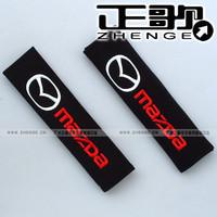 free shipping 10pair shoulder pad Mazda MAZDA car logo safety belt cover 1pair=2pcs Seat belt shoulder