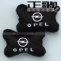 free shipping 1pair Car pillow Car logo car pillow bone pillow neck pillow opel Bone pillows 1pair=2pcs headrest
