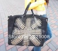 Fashion Rivet  women shoulder bag Messenger bag Tote bag - Free shipping