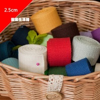 Handmade accessories handle - tape bags handle canvas bag belt 2.5cm 1y