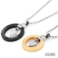 Accessories  fashion  pendant titanium lovers couple necklace