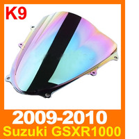 Free Shipping Windshield Windscreen For Suzuki GSXR 1000 2009 2010 K9 Chrome