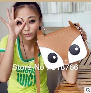2013 New Fashion Women Designer Bag Handbag Vintage Leather Naughty Fox Shoulder Cross-body Bag Tote Free Shipping Wholesale