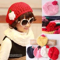 Female child 2013 autumn and winter handmade three-dimensional flower child hat child cap baby hat 909 cap