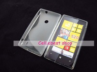 new free shipping high quality 30pcs/lot silicone s line gel tpu case cover For Nokia Lumia 520