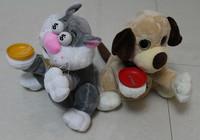 Free Shipping 1 Pcs Creative Electric Piggy Bank Childen Kids Present Christmas Cat Dog Coin Money Saving Box Bank