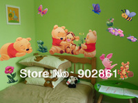 [funlife]-Children Room Lovely Bears Art Mural Wall Decor Decals decorative stickers