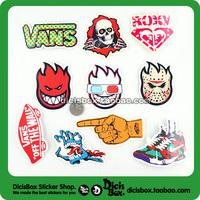 Free shipping Skateboard set laptop stickers skateboard stickers monoboard personality waterproof travel bag