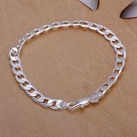H245 Wholesale! Free Shipping Wholesale 925 silver bracelet, 925 silver fashion jewelry 6mm Flat Bracelet