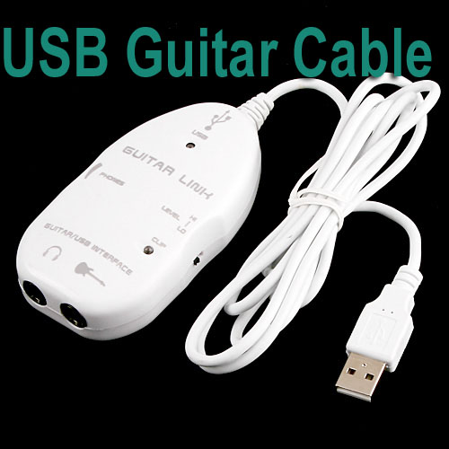 High quality USB Guitar Cable Link to PC/Mac,10pcs/lot,I11W Free/drop Shipping(China (Mainland))