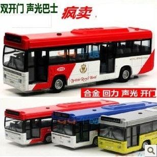 Acoustooptical bus bus alloy car toy car model toy