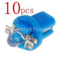 Free Shipping 10 x T5 Gauge LED Car Speedo Dashboard Light Bulb - Blue