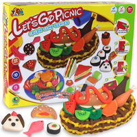 Large 3d dough plasticine pastry fruit food mould toiletry kit child diy puzzle