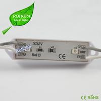 1Pack(100pcs),20pcs in a string,39*12mm 0.24W,12v I67 flashing led module for led sign (SMD 3528,2LEDs,Plastic case,white color)