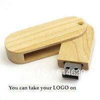 Retail genuine 2GB/4GB/8GB/16GB/32GB usb drive pen drive usb flash drive memory rotate wood Free shipping