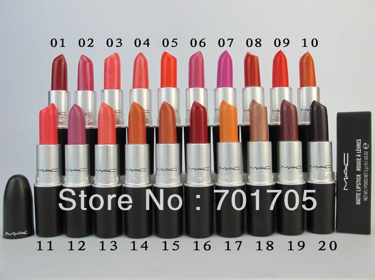 High-quality brand Makeup same Natural lustre Lipstick 20 different colors 3G Cosmetic products(China (Mainland))