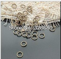 Free shipping- 150g/lot 5mm 6mm 7mm 8mm Single ring,double ring Ancient bronze circle  Vintage accessories circle