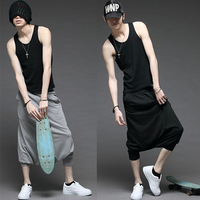 Free shipping --- men's casual sportswear K112 loose plus size sports male hip-hop pants capris pants male -345