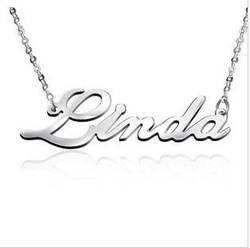 DIY Name Necklace Custom By Your Require 925 Sterling Silver Necklace Fine Jewelry Can Drop Ship Can Made Russia Official Letter(China (Mainland))