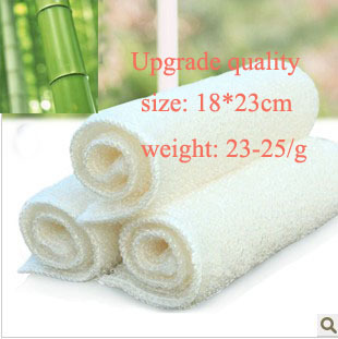18*23  23-25g/pc high efficient ANTI-GREASY dish RAG,100% bamboo fiber dish cloth,magic multi-function wipping/cleaning rag