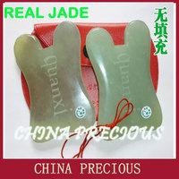 Free Shipping 2013 wholesale top quality natural facial jade scrapping plate /jade /jade guasha board /Thin face/no imitation