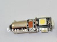 Free Shipping Car ERROR FREE CANBUS BA9S 5SMD 5050 LED Car Indicators Light Interior Bulbs Wedge Lamp 6pcs/lot
